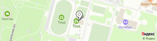Комбинат оздоровительных спортивных сооружений на карте Железногорска