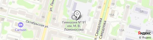 Гимназия №91 им. М.В. Ломоносова на карте Железногорска