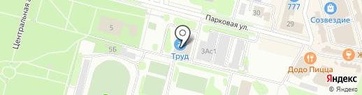 Труд на карте Железногорска