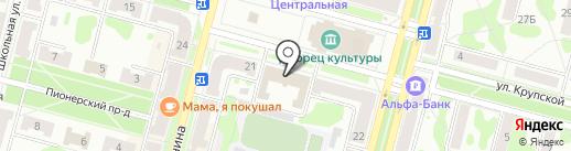 Территориальная избирательная комиссия на карте Железногорска