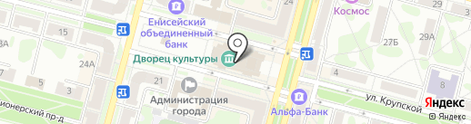 Дворец культуры на карте Железногорска