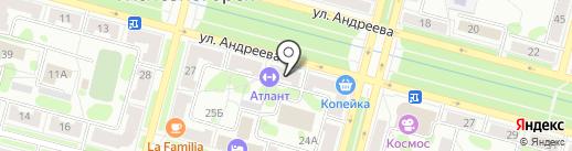 Атлант на карте Железногорска