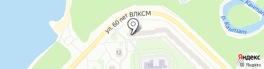 Золотая рыбка на карте Железногорска