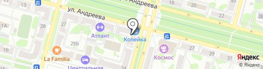 Галерея разливных напитков на карте Железногорска