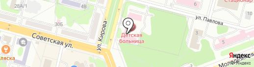 Городская детская больница, Клиническая больница №51 на карте Железногорска