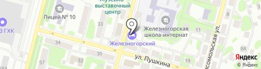 Железногорский на карте Железногорска