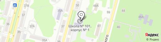Средняя общеобразовательная школа №101 с углубленным изучением математики и информатики на карте Железногорска