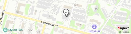 Тикара на карте Железногорска