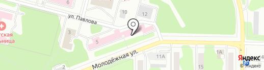 Психоневрологический диспансер, Клиническая больница №51 на карте Железногорска