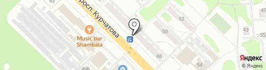 Незнакомка на карте Железногорска