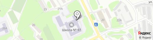 Средняя общеобразовательная школа №97 на карте Железногорска