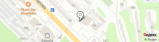 Киоск по продаже молочных продуктов на карте Железногорска