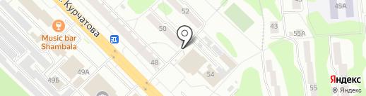 Киоск по продаже хлебобулочных изделий на карте Железногорска