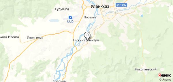 Нижний Саянтуй на карте