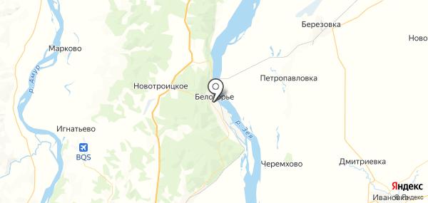 Белогорье на карте