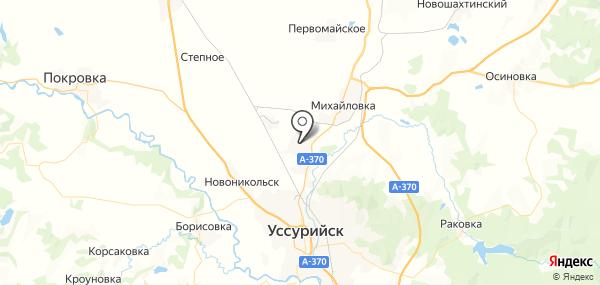 Воздвиженка на карте