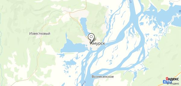 Амурск на карте