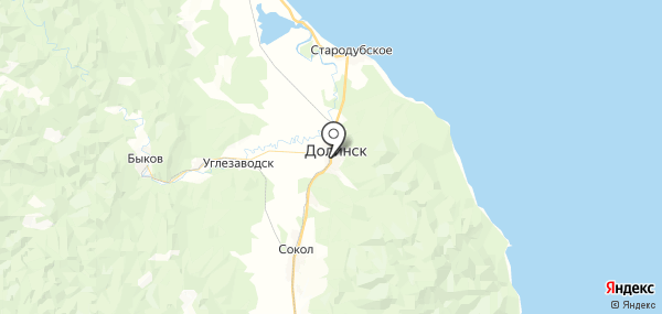 Долинск на карте