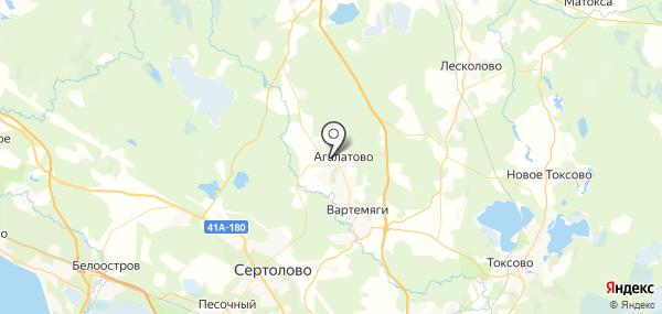 Агалатово на карте