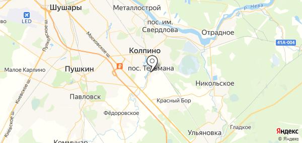 Тельмана на карте