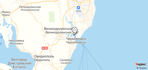 Сухой Лиман на карте