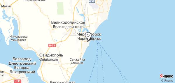 Ильичёвск на карте