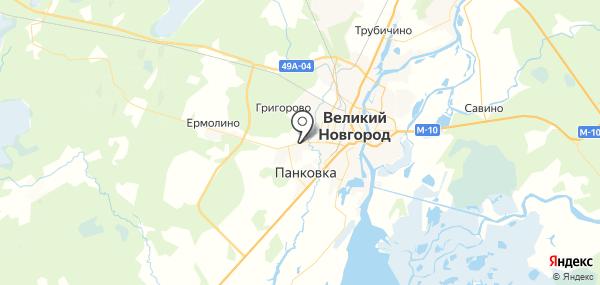 Новая Мельница на карте