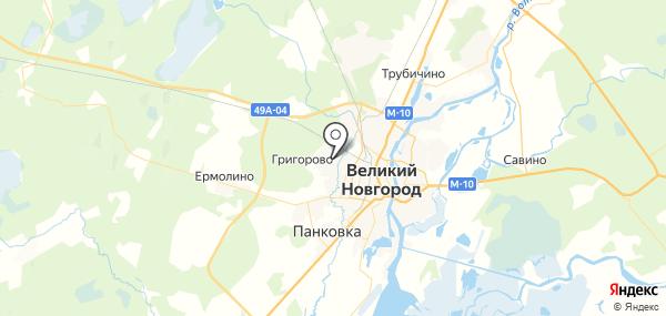 Григорово на карте
