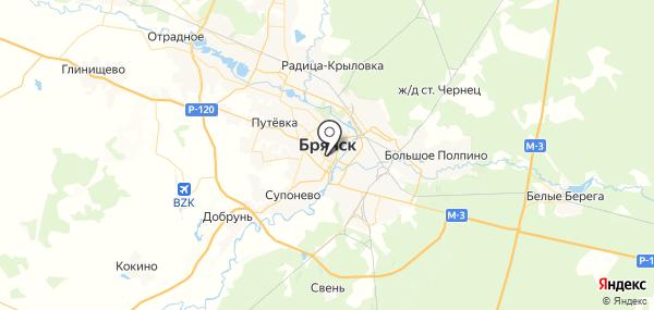 Брянск на карте