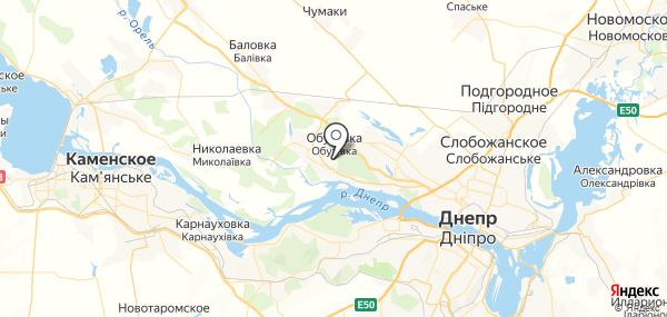 Кировское на карте