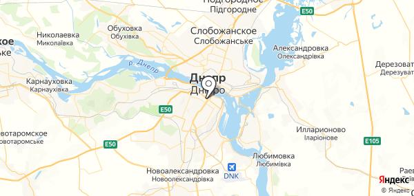 Днепропетровск на карте