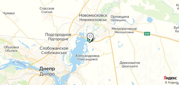 Новосёловка на карте