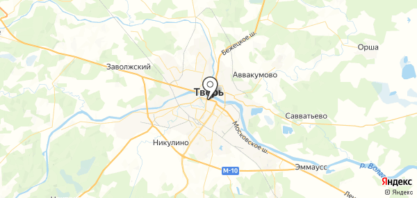 Тверь на карте