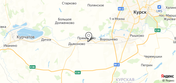 Прямицыно на карте