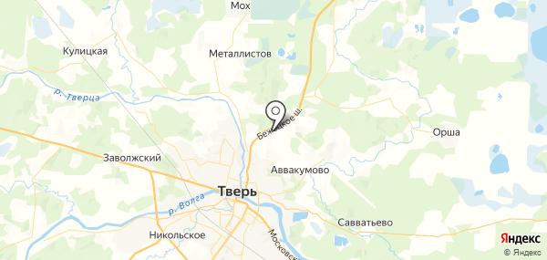 Загородный на карте