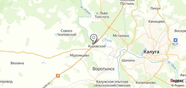 Куровское на карте
