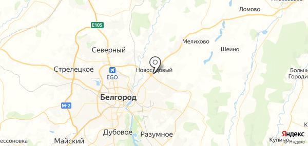 Новосадовый на карте