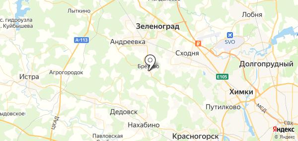 Брёхово на карте