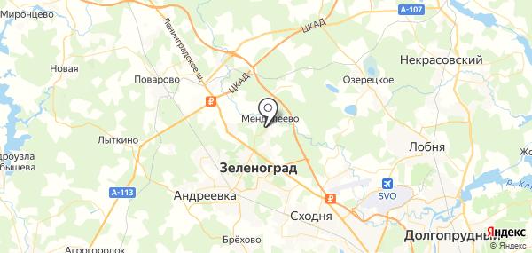 Менделеево на карте