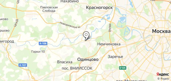 Жуковка на карте