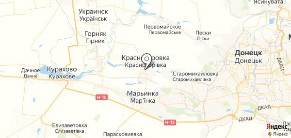 Красногоровка на карте