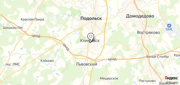 Климовск на карте