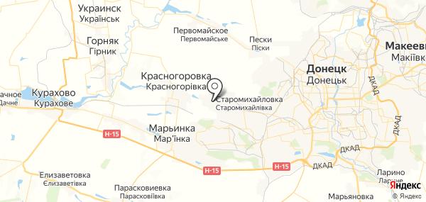 Старомихайловка на карте