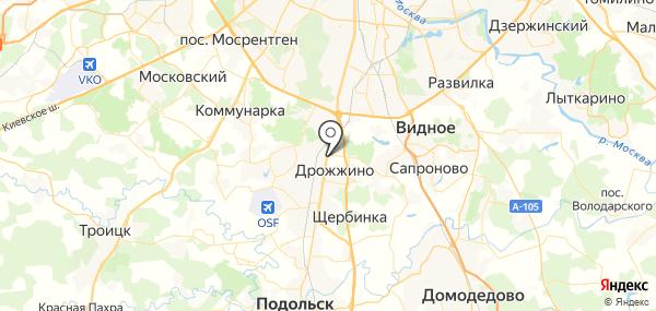 Бутово на карте