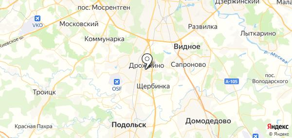 Дрожжино на карте