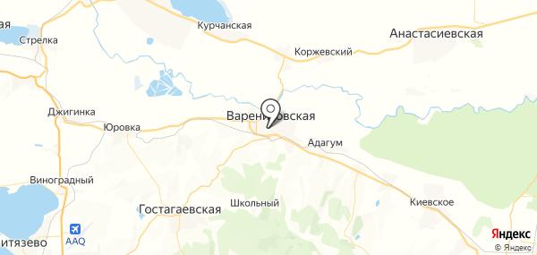 Варениковская на карте