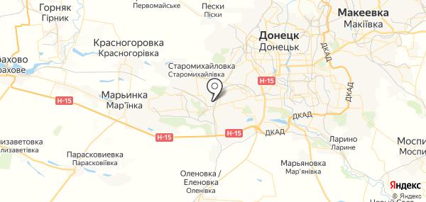 Оленовка на карте