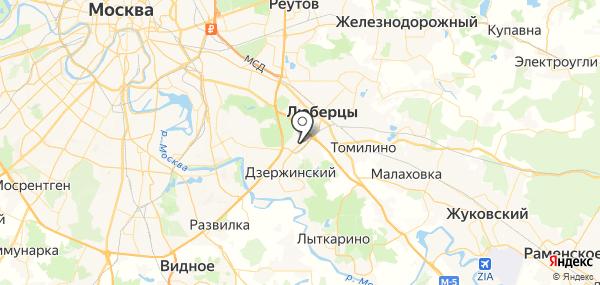Котельники на карте