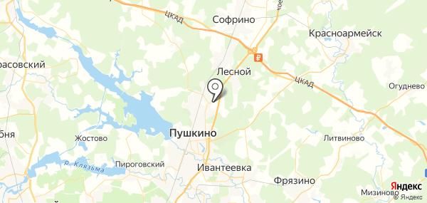 Братовщина на карте