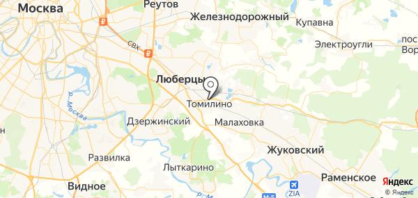 Томилино на карте